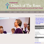 Church of The Roses Website Screen Shot
